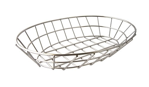 G.E.T. Enterprises Chrome Oval Metal Wire Basket Metal Wire Baskets Collection 4-20144 (Pack of 1)