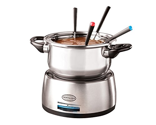 082677217103 - Nostalgia FPS200 6-Cup Stainless Steel Electric Fondue Pot carousel main 0