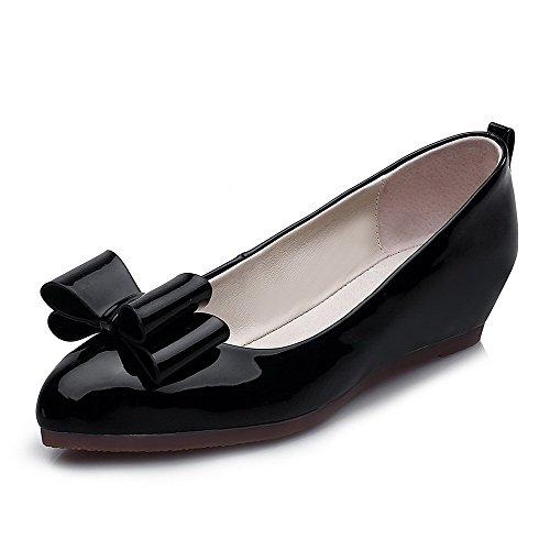 Voguezone009 Pull Pu Kvinners Lave Lukket on Rund Tå Faste Hæler Pumpe sko Sorte qSCqawrf