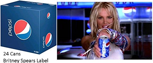 Pepsi 12 Oz, Pack Of 24 Cans Britney Spears Labeled Rare Collectible WESTNET