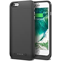 iPhone 6s plus Battery Case Cheeringary 6800mAh Slim External Battery Backup Charger Case Pack Power Bank for iPhone 6 plus (5.5 inch) Rechargeable Battery Case juice pack for Apple 6/6s plus (Black)