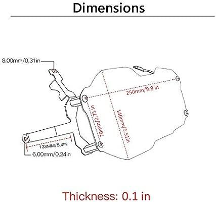 LAOOWANG Motorbike Front Headlight Headlamp Grill Cover Protector Shield