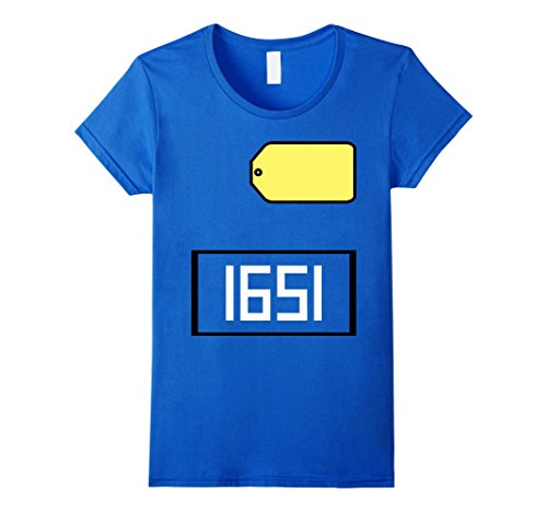 Price Is Right Big Wheel Costume (Womens Game Show Group Halloween Costume T-Shirt Medium Royal Blue)