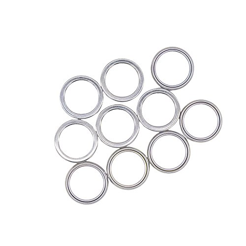 Front and Rear Differential Fill and Drain Plug Crush Washers Gasket for Toyota 4Runner Tacoma FJ Cruiser Land Cruiser, Replacement for the part# 12157-10010, 10 Pack (Washer Crush Replacement)
