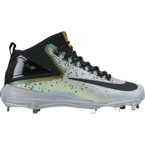 Nike Mens Force Zoom Trout 3 Metal Baseball Cleats, Wolf Grey/Multi-Color/Black, Size 9.5 (US) by NIKE