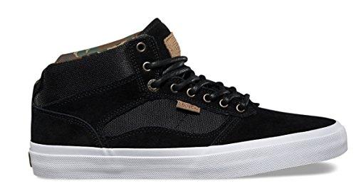 Vans Mens Bedford Skateboard Chaussures Militaire-noir-blanc