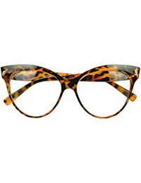 Sunglass Stop - Oversized Round High Pointed Vintage Mod...