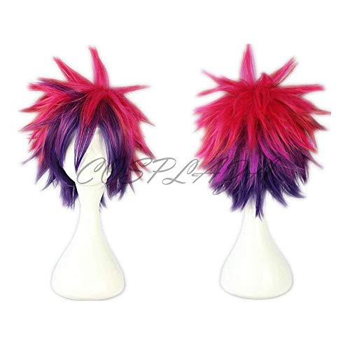 COSPLAZA Rose Mixed Purple Short Cosplay Wigs Halloween Party Hair