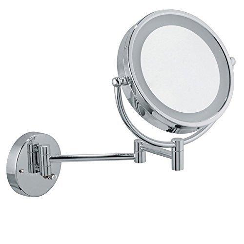 Infiniti Vanity Mirror 8.5 inch Chrome Illuminated Cosmetic