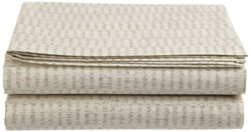 Calvin Klein Home Briar Brushed Weaves King Flat Sheet, Cream ()
