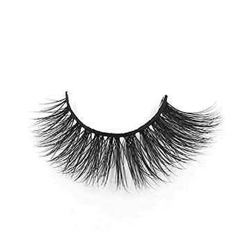 e7bdecf48cd Amazon.com : Best 3D Real Mink Eyelashes Fashsionable False Eyelashes Thick False  Mink Eyelashes Cruelty Free Mink Strip Lashes Clear Soft Band Mink ...