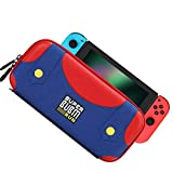 BUBM Hard Shell Protective Case Storage Bag for Nintendo Switch Console and Accessories,with Stand Bracket Function