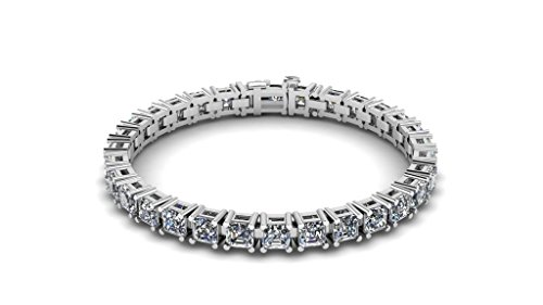 NANA Silver Asscher Swarovski CZ Bracelet-8