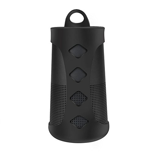 Case for Bose Revolve, Silicone Case Sling Cover Portable Carrying Case for Bose SoundLink Revolve Bluetooth Speaker (with Carabiner)