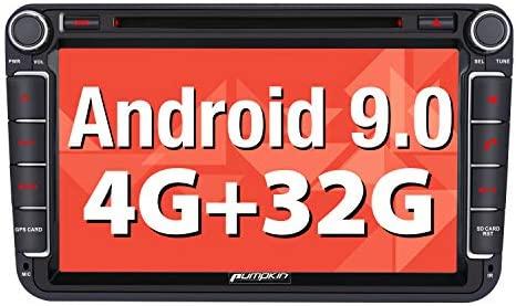 Nuevo】 Pumpkin Android 9.0 Radio GPS para Coche con ...