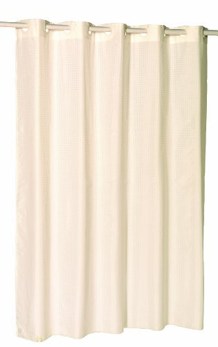 Carnation Home Fashions EZ On No Hooks Needed! 54 By 78 Inch Fabric Shower