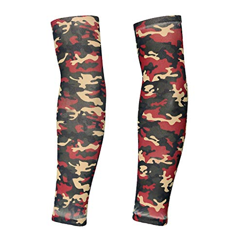 (TADAMI Sunscreen Sleeves, Sunscreen Temporary Tattoo Sleeves Body Art Arm Stockings Slip Accessories (Camouflage))