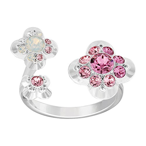- Swarovski Crystal Cherie Plated Ring, 6.75
