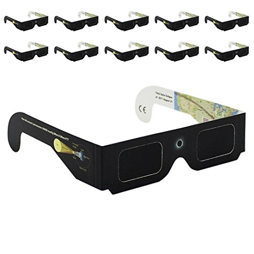 Price comparison product image GOODCULLER Solar Eclipse Glasses - Safe Solar Eclipse Viewing ISO & CE Certified Safe Paper Glasses for 2017 Solar Eclipse Protection For All Ages (10)