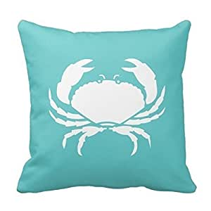 "Home Decorative Crab / Crabby Pillow Throw Pillow Cover Cushion Case 18"""