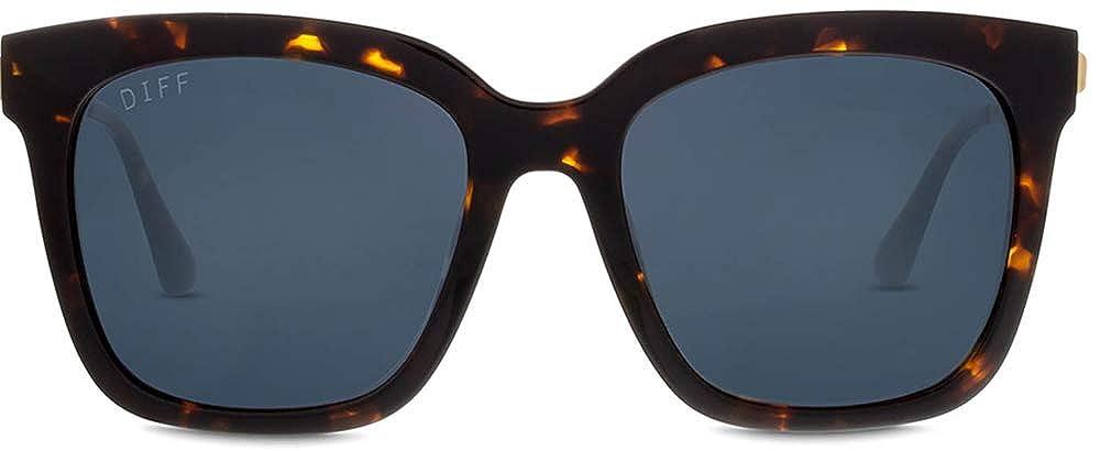 47e832491f Amazon.com  DIFF Eyewear - Bella - Designer Square Sunglasses for Men    Women - 100% UVA UVB  Polarized   Clothing