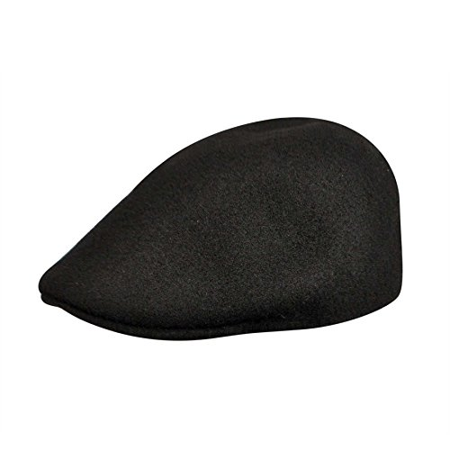 (Kangol Men's Seamless Wool 507 Ivy Cap, Ergonomic, Contoured Fit, Black)