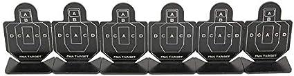 NO LOGO Lixia-Target, 6pcs / Lot al Aire Libre Airsoft Metal de Disparo Establecer Destino AEG GBB Rifle Pistola BB Pistola Tiro al Blanco for el Entrenamiento Táctico Practicar