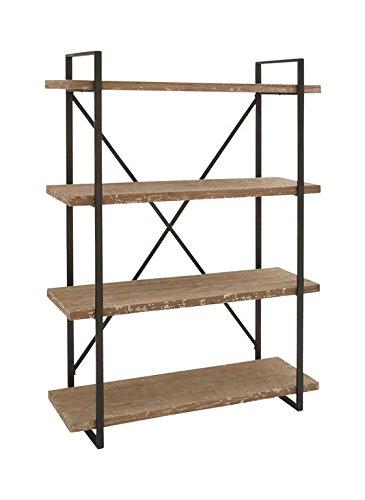Deco 79 34853 Tall Industrial Black Metal Wood Bookshelf 47 X 67
