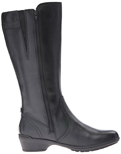 Rockport Cobb Hill Women's Cobb Hill Rayna Wide Calf Rain Boot, Black, 9 W US by Rockport (Image #7)