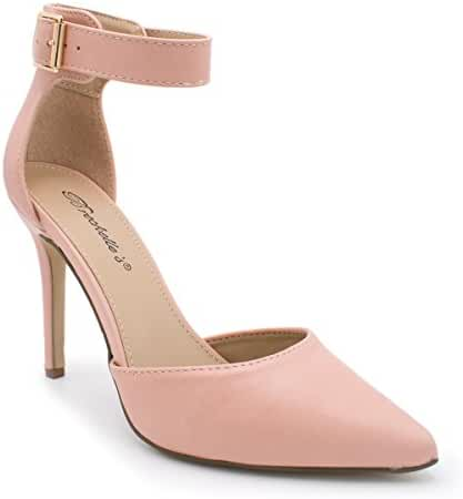 Women's Ankle Strap Classy D'orsay Dress Pump, Isabel-01