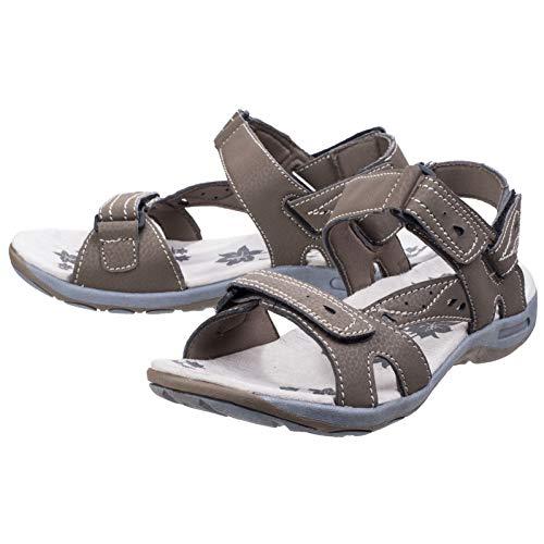 Marron Cotswold Randonnée Femme Velcro Sandales Highworth Fermeture R67gwq86