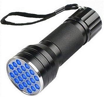 UV Ultra Violet 395nm LED Flashlight Mini Blacklight Aluminum Torch Light Lamp