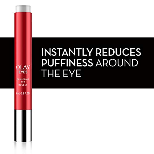 41vf6Z1y5UL - Eye Treatment by Olay Eyes Depuffing Eye Roller with Vitamin E Massages to Help Reduce Puffiness and Instantly Awaken Tired-Looking Eyes, 0.2 Fl Oz Packaging may Vary