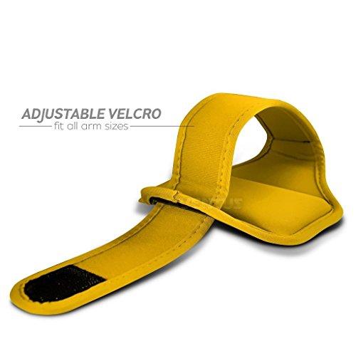 Aventus ZTE Axon 7 (Baby Blau) Voll einstellbare Leicht Hulle Armband-Halter-Kasten-Abdeckung Running, Walking, Radfahren, Fitnessraum und andere Sportarten Gelb