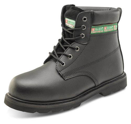 Click Goodyear Welt Safety Boot Midsole Black - Size 8