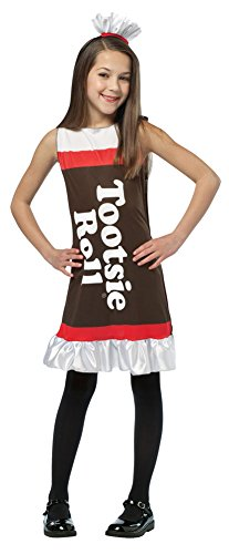 Girls Halloween Costume- Tootsie Roll Tank Dress Kids Costume Medium (Tootsie Roll Child Costume)