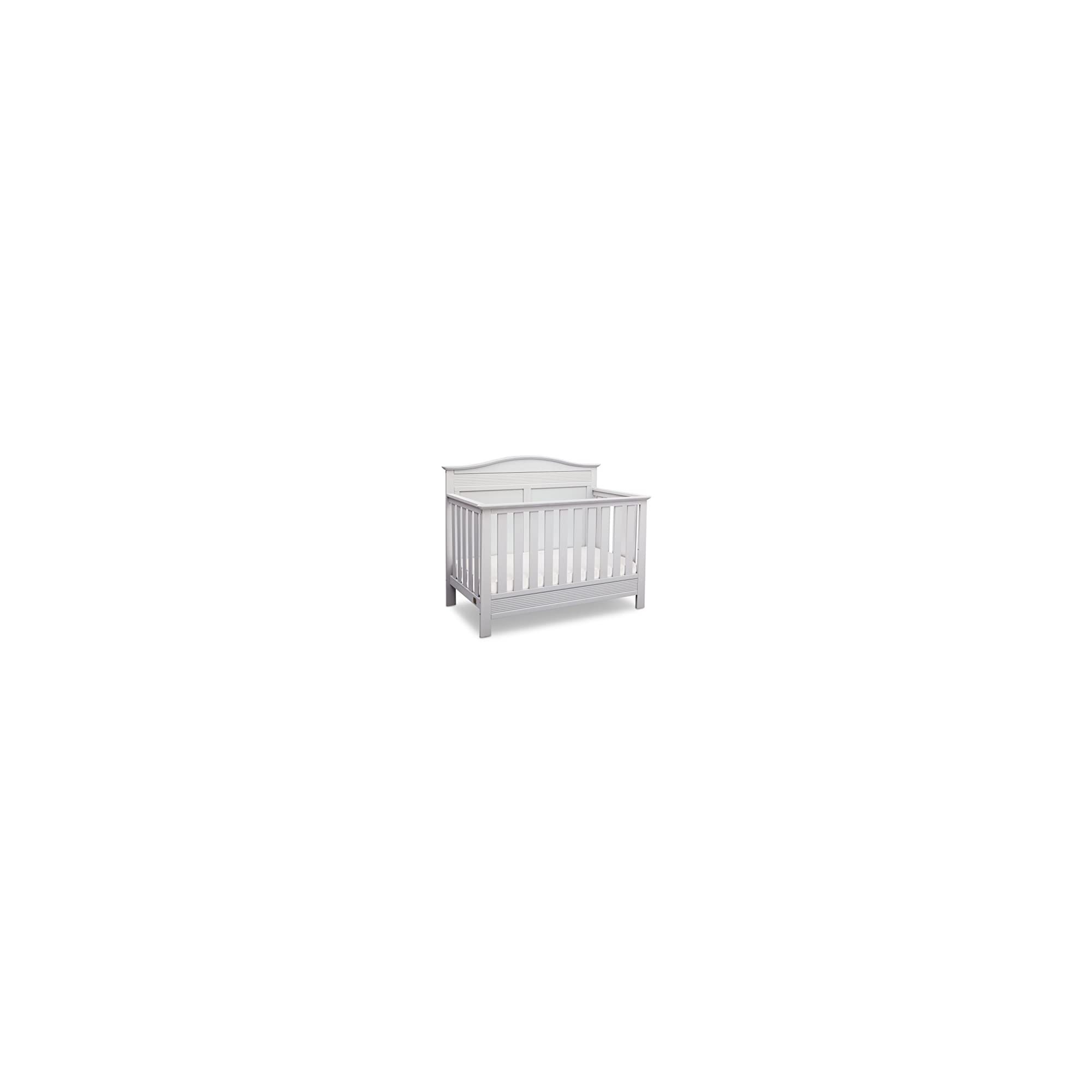 Serta Barrett 4-in-1 Convertible Baby Crib, Bianca White
