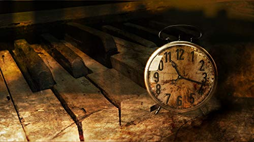 Photography Poster - Piano, Clock, Time, Vote, Gloss Finish