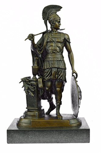 …Handmade…European Bronze Sculpture Art Deco Large Odysseus Roman Warrior Marble Base Decor (YRD-1123) Bronze Sculpture Statues Figurine Nude Offi…