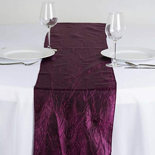 Mikash 10 Taffeta Crinkle Table Top Runners Wedding Party Catering Decorations Supplies | Model WDDNGDCRTN - 14756 |]()