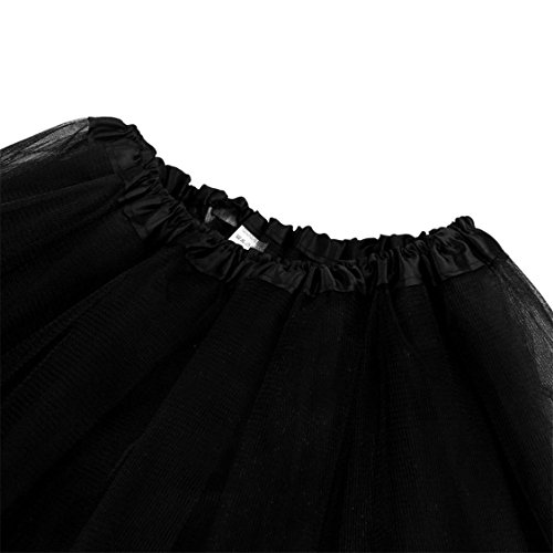 Half High mesh Womens Adult Dancing Gauze Tutu Pleated Dress Mesh Solid Black Skirt Waist TIFENNY Hot Sale qEWYRR