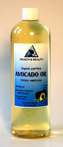 Avocado Oil Organic Carrier Cold Pressed 100% Pure 16 oz