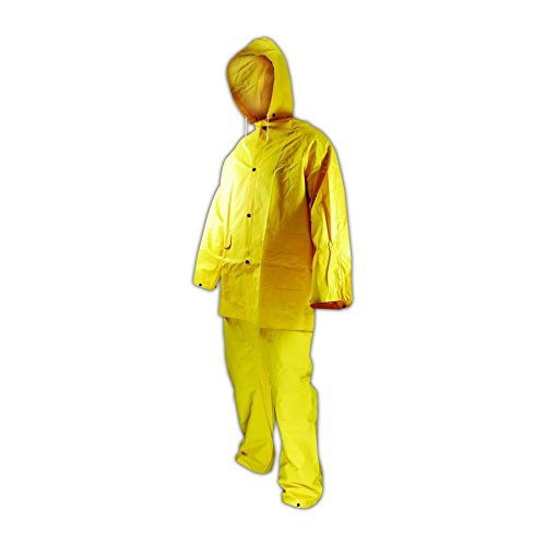 Magid RainMaster 14 mil Vinyl 3-Piece Rain (Detachable Bib Safety Pants)