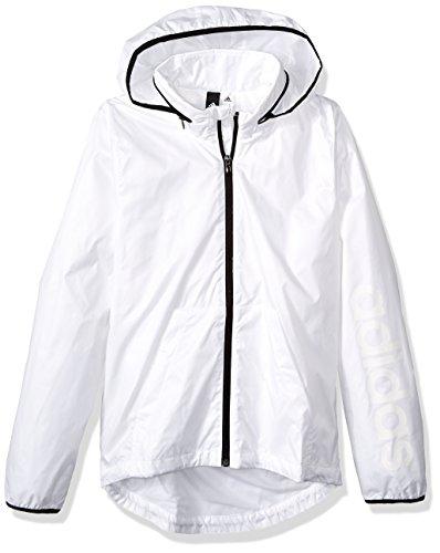 adidas Women's Linear Windbreaker Jacket, White, X-Small by adidas (Image #3)