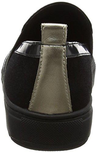 Geox D Breeda A, Sneakers Basses Femme Noir (Black)