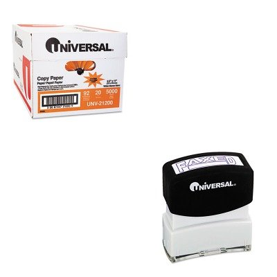 KITUNV10053UNV21200 - Value Kit - Universal Message Stamp (UNV10053) and Universal Copy Paper (UNV21200)