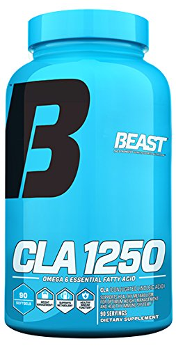 Beast Sports Nutrition CLA 1250. Lose Fat and Gain Muscle with CLA 1250.  Omega-6 fatty acids also known as Conjugated Linoleic Acids (CLA) support weight Loss and help build lean muscle. 90 Softgels