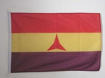 AZ FLAG Bandera ESPAÑA Republicana BRIGADAS INTERNACIONALES 90x60cm Uso Exterior - Bandera DE LA Republica ESPAÑOLA 60 x 90 cm Anillos: Amazon.es: Hogar