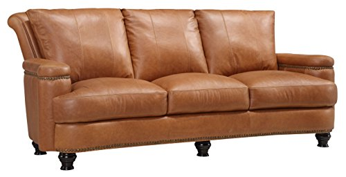 Oliver Pierce OP0024 Nathan Leather Sofa, Tan