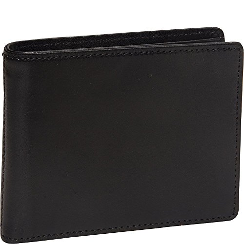 Bosca Men's Genuine Leather Bifold Executive ID Wallet (Black) - Executive Checkbook Cover Leather Accessories